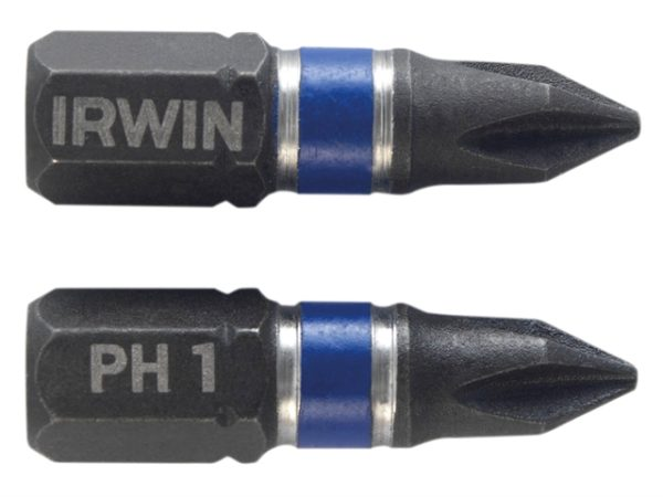 Impact Screwdriver Bits Phillips PH1 25mm Pack of 2