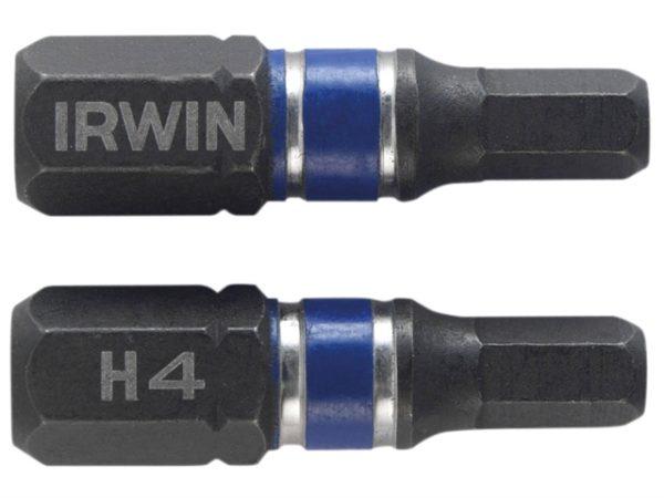 Impact Screwdriver Bits Hex 4 25mm Pack of 2