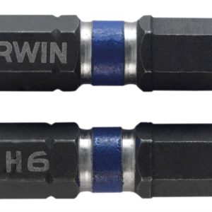 Impact Screwdriver Bits Hex 6 25mm Pack of 2