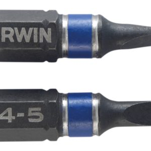 Impact Screwdriver Bits Slotted 4.5 x 25mm Pack of 2