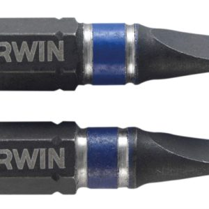 Impact Screwdriver Bits Slotted 5.5 x 25mm Pack of 2