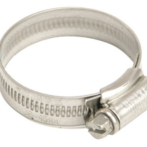 1X Stainless Steel Hose Clip 30 - 40mm (1.1/8 - 1.5/8in)