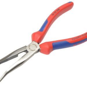 Bent Snipe Nose Side Cutting Pliers Multi-Component Grip 200mm (8in)