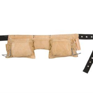 AP-527X Heavy-Duty Leather Work Apron 12 Pocket