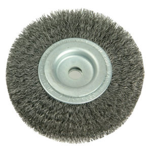 Wheel Brush D250mm x W30-35 x 100 Bore Set 4 +1 Steel Wire 0.30