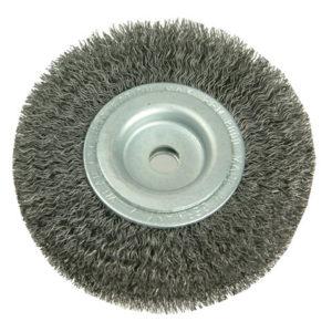 Wheel Brush D200mm x W28-32 x 80 Bore Set 4 +1 Steel Wire 0.30