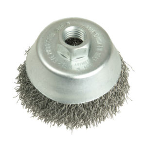 Cup Brush 75mm M10 x 0.35 Steel Wire