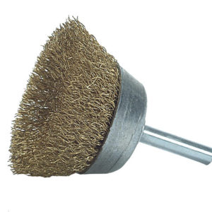 DIY Cup Brush with Shank 50mm x 0.25 Brass Wire