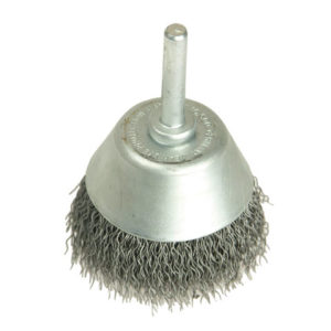 Cup Brush with Shank D40mm x 15h x 0.30 Steel Wire