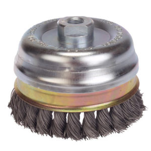 Knot Cup Brush 65mm M10 x 1.25 x 0.50 Steel Wire
