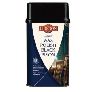 Liquid Wax Polish Black Bison Medium Oak 500ml