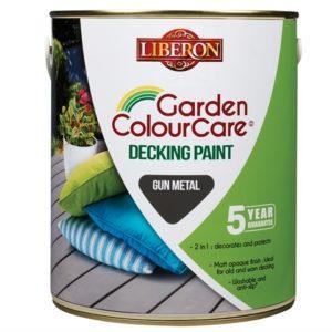 Garden Colour Care Decking Paint Gun Metal 2.5 Litre