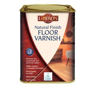 Natural Finish Floor Varnish Clear Satin 1 litre