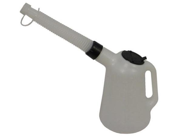 Polyethylene Oil Measure Jug With Spout 1 Litre