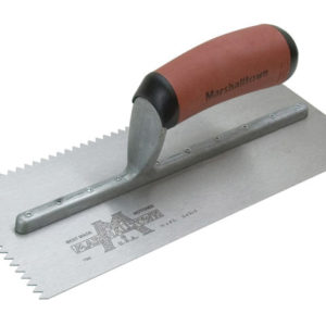 M701SD V 3/16in Notched Trowel DuraSoft® Handle 11 x 4.1/2in