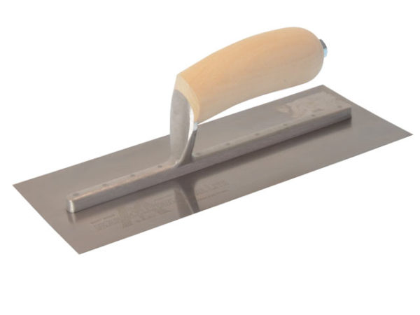 MXS1SS Plasterer's Finishing Trowel Stainless Steel Wooden Handle 11 x 4.1/2in