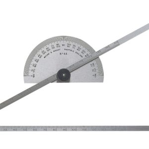 Protractor Type Depth Gauge Metric/Imperial 0-6in