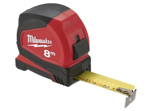 Pro Compact Tape Measure 8m (Width 25mm) (Metric Only)