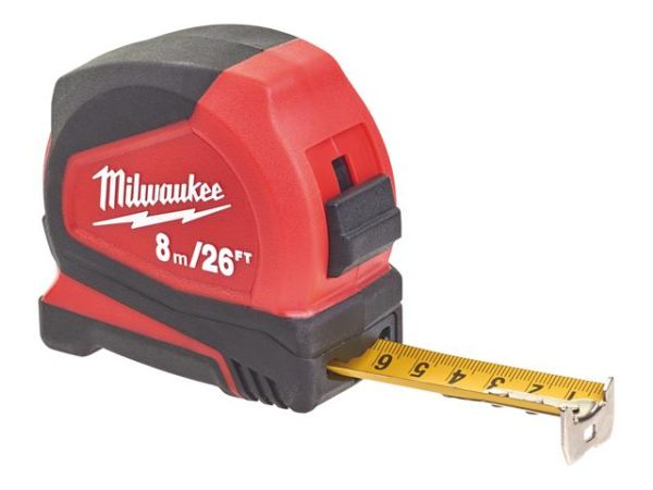 Pro Compact Tape Measure 8m/26ft (Width 25mm)