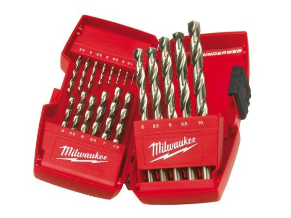 HSS-G THUNDERWEB Metal Drill Bit Set 19 Piece 1-10mm