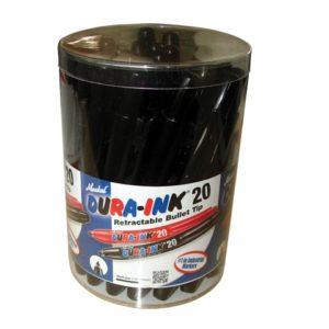 DURA-INK® 20 Retractable Marker - Black (Tub of 24)