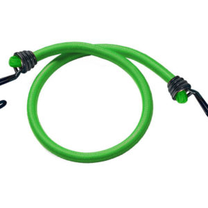 Twin Wire Bungee Cord 80cm Green 2 Piece