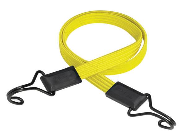 Flat Bungee 100cm Yellow Double Hook