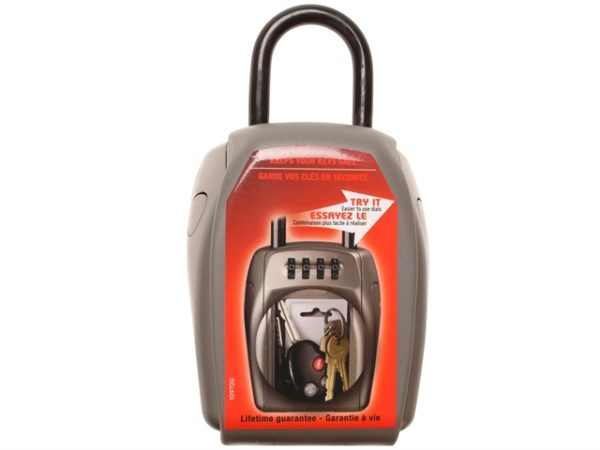 5414E Portable Shackled Combination Reinforced Security Key Lock Box