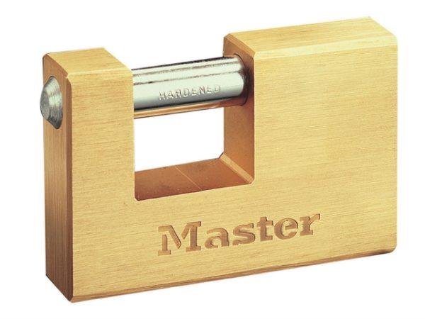 Rectangular 85mm Solid Brass Body Shutter Padlock