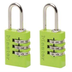 Aluminium Combination Padlocks 3 Digit Colour 20mm x 2