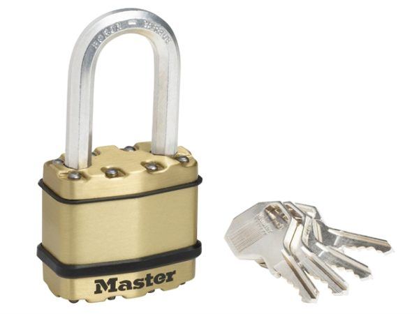 Excell™ Brass Finish 45mm Padlock 4-Pin - 38mm Shackle