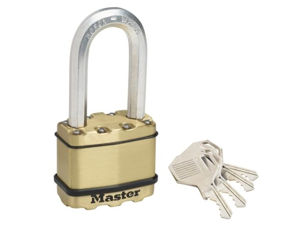 Excell™ Brass Finish 50mm Padlock 4-Pin - 51mm Shackle