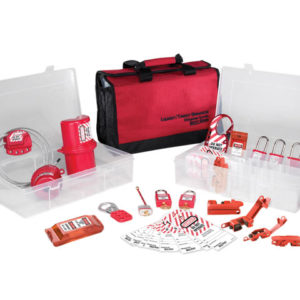 Lockout / Tagout Electrical Group 23-Piece Kit with 410RED Padlocks