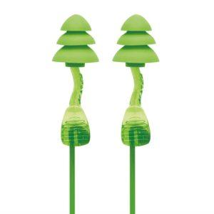 Corded Reusable Twisters® Trio Earplugs SNR 33 dB