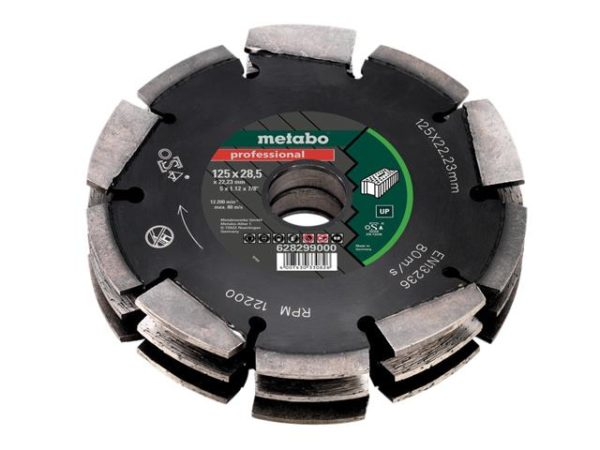 3 Row Professional UP Wall Chaser Blade 125 x 28.5 x 22.23mm