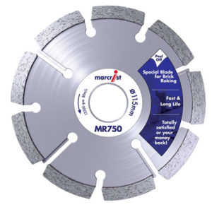 MR750 Mortar Raking Diamond Blade 125 x 22.2 x 6mm
