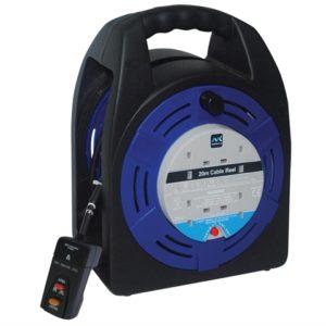 Case Reel 20 Metre 4 Socket 13A RCD & Thermal Cut-Out 240 Volt