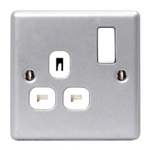 Metal Clad Switched Socket 1-Gang 13A