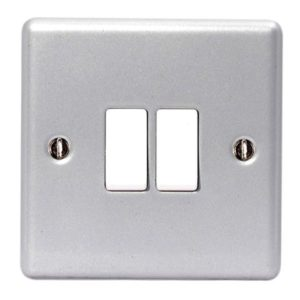 Metal Clad 2-Way 2-Gang Light Switch