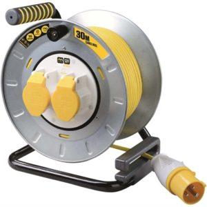 Pro-XT Metal Cable Reel 30 Metre 16A 110 Volt Thermal Cut-Out