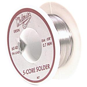 M7 Ersin 5 Core Solder 60/40 0.7mm Diameter