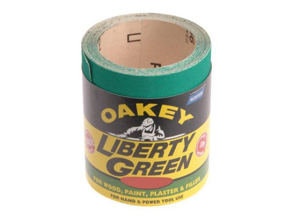 Liberty Green Sanding Roll 115mm x 10m Medium 80G