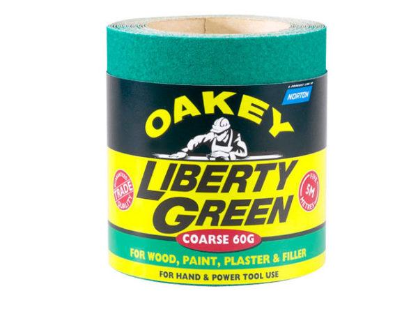 Liberty Green Sanding Roll 115mm x 5m Medium 80G