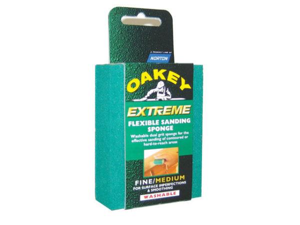 Dual-Grit Flexible Sanding Sponge Fine/Coarse
