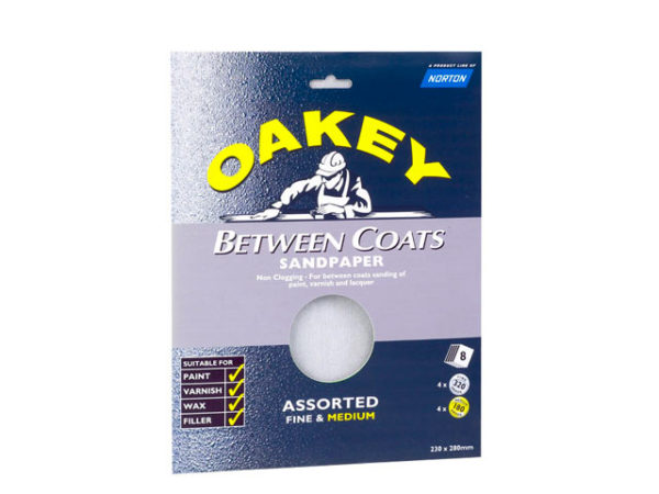 Between Coats Silicon Carbide Sanding Sheets 230 x 280mm Assorted (3)