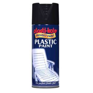 Plastic Paint Spray Black Gloss 400ml