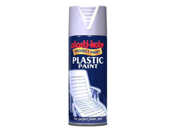 Plastic Paint Spray White Gloss 400ml
