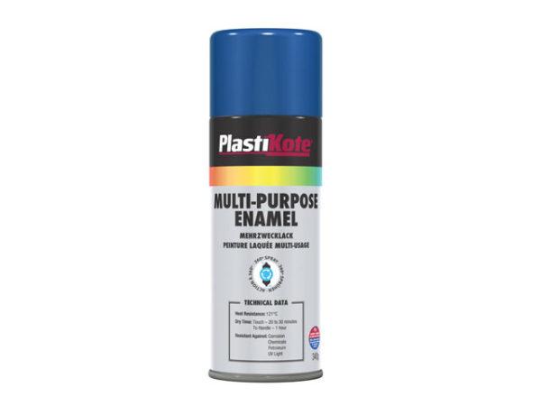 Multi Purpose Enamel Spray Paint Gloss Blue 400ml