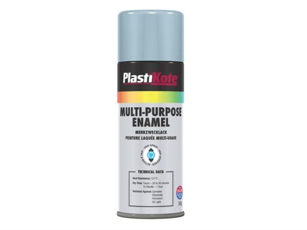 Multi Purpose Enamel Spray Paint Gloss Aluminium 400ml