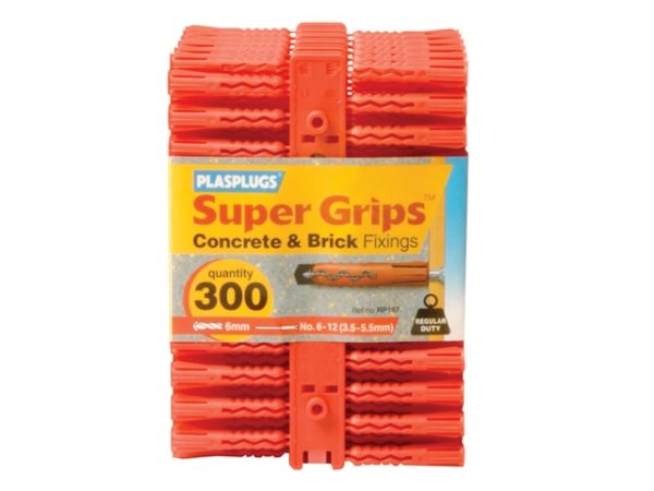 RP 187 Solid Wall Super Grips™ Fixings Red (300)